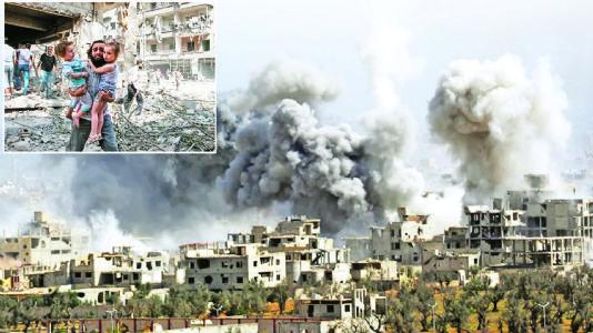 વિશ્વપ્રવાહ : સીરિયામાં સંઘર્ષ : બે આખલાની લડાઈમાં ઝાડનો ખો નિકળશે